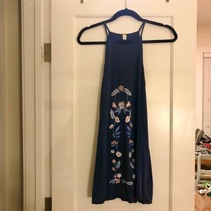 Francesca's Embroidered Tank Dress